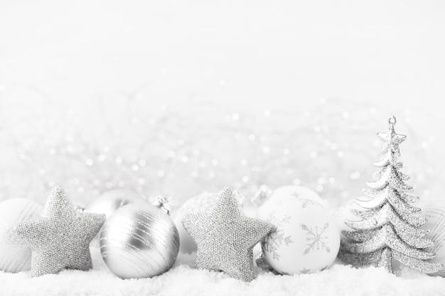 Рождественская открытка. праздничное украшение. новогодняя концепция. плоская планировка. вид сверху. Premium Фотографии