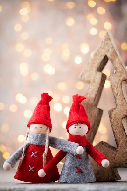 クリスマスグリーティングカード Premium写真