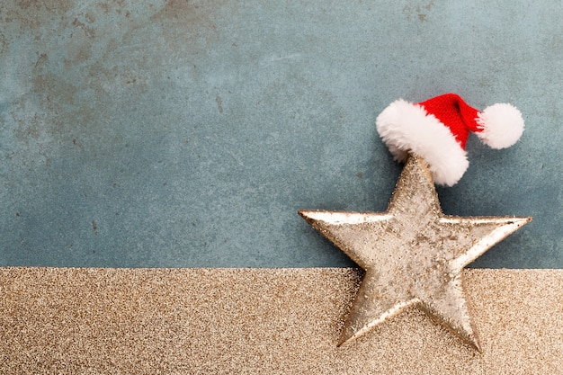 Christmas holidays composition on wooden background.christmas tree decoration and copy space for you