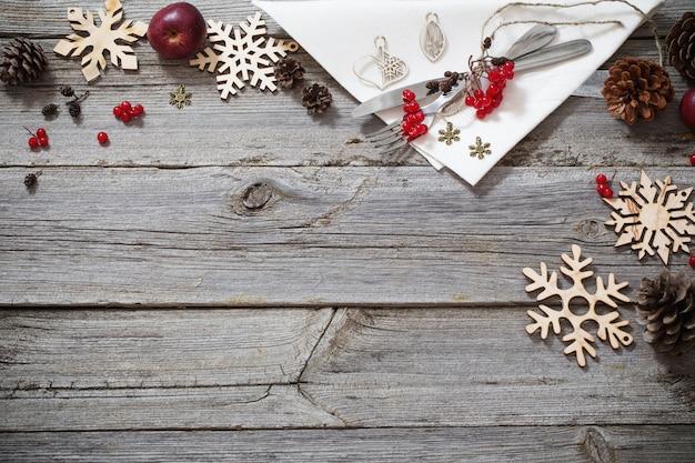 クリスマス休暇テーブル Premium写真
