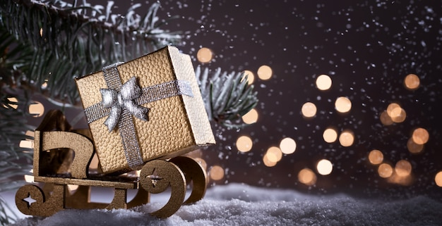 Christmas holidays  with copy space for text. Premium Photo