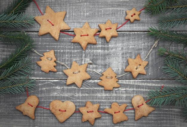 クリスマス自家製ジンジャーブレッドクッキー 無料写真