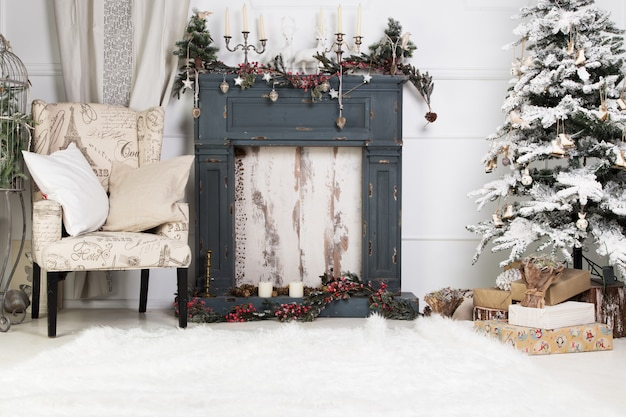Christmas interior Premium Photo