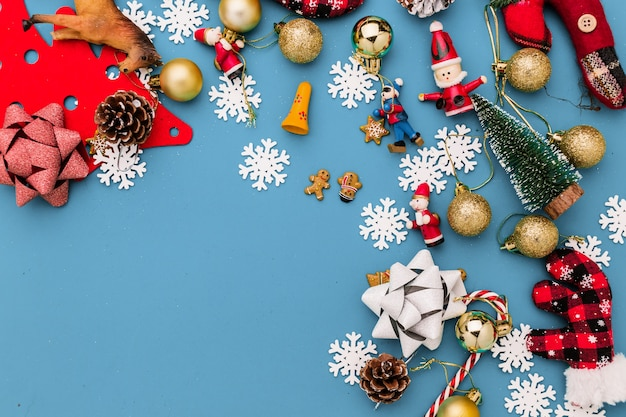 Christmas And New Year Ideas Concept With Festive Decorating Items ...
