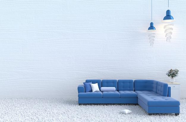 Enjoyable Christmass Daynew Year Living Room Decor With Blue Sofa Theyellowbook Wood Chair Design Ideas Theyellowbookinfo