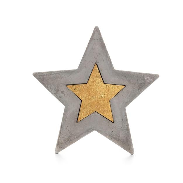 白い背景で隔離のクリスマスの星。 Premium写真