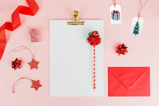 Christmas themed stationeries Free Photo
