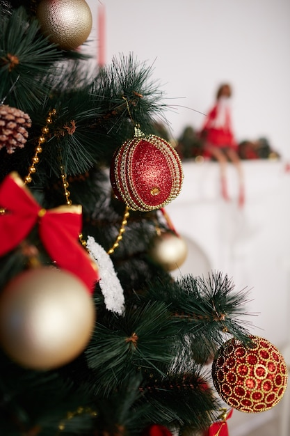 Christmas tree decoration Free Photo