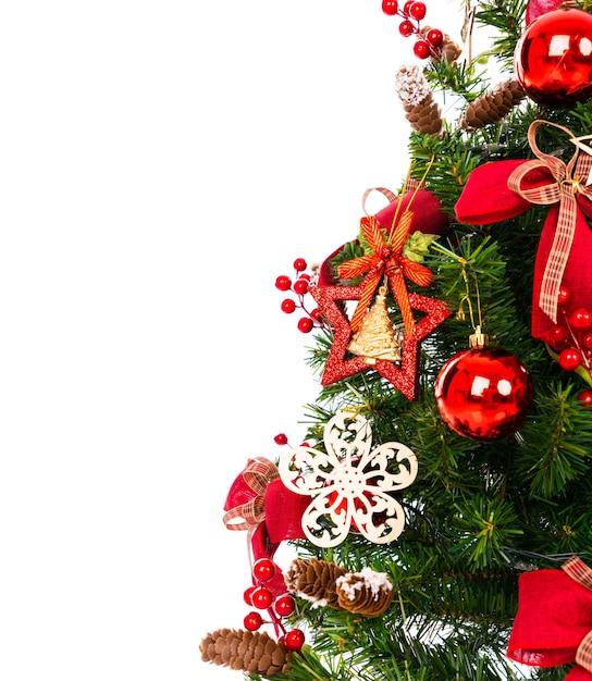 Рождественская елка на белом фоне Бесплатные Фотографии