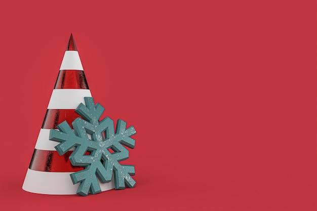 Christmas tree minimalist wallpaper . 3d rendering . 3d illustration. merry christmas concept Premium Photo