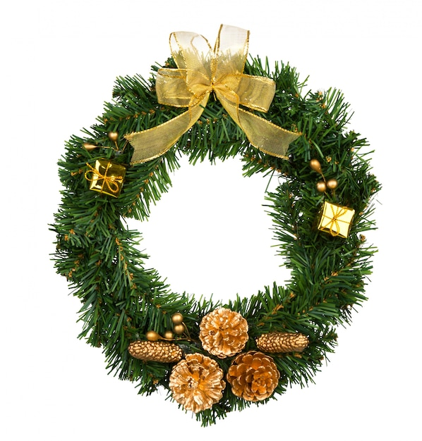 Christmas Wreath Images Free.Christmas Wreath Isolated On White Photo Free Download