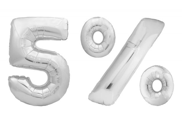 Хром № 0 из надувной шар изолирован на белом фоне. один из полного набора номера Premium Фотографии