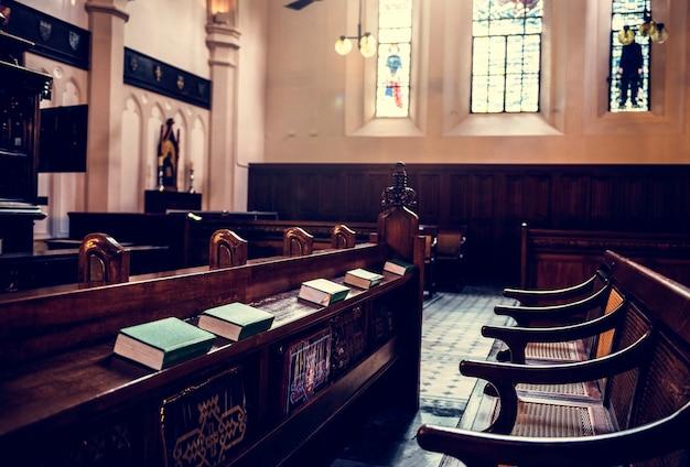 Church interior neat bible Free Photo