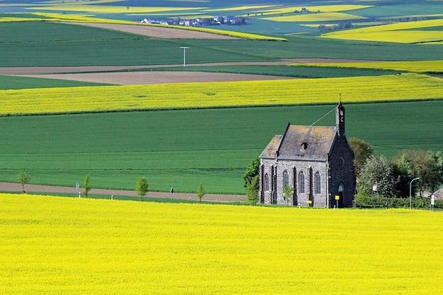 Church landscape rape eifel oilseed Free Photo