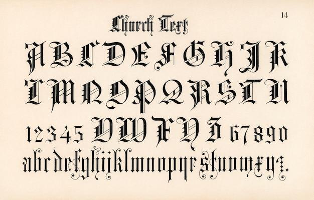 Church text fonts Free Photo