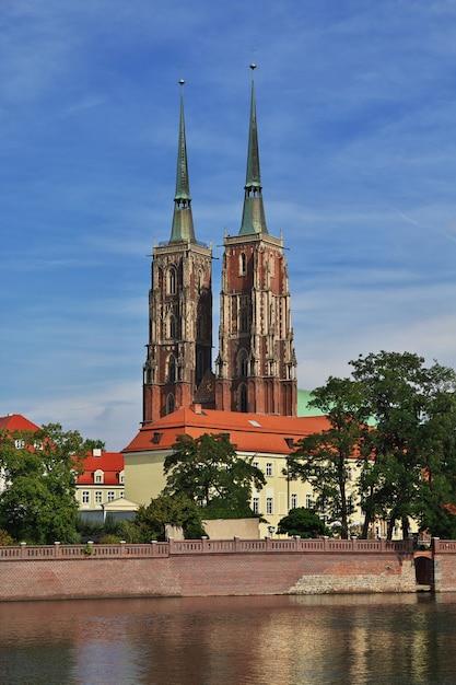 The church in wroclaw city, poland Premium Photo