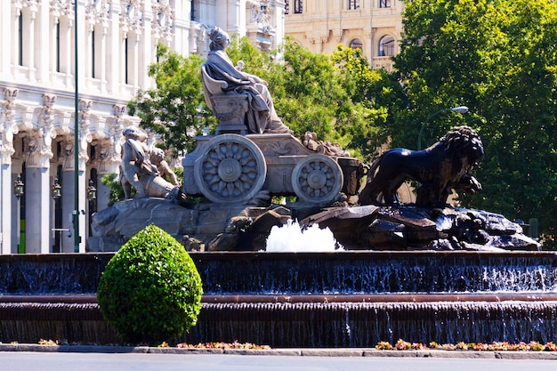 Cibeles広場のcibeles噴水 無料写真