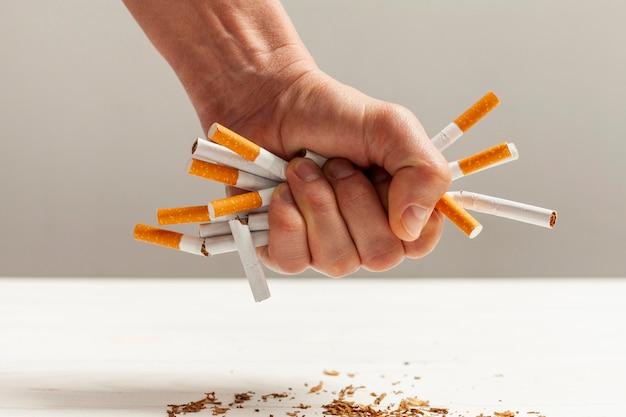 Cigarettes smoking habbit Free Photo