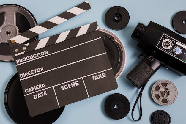 Cinema equipment on table Free Photo