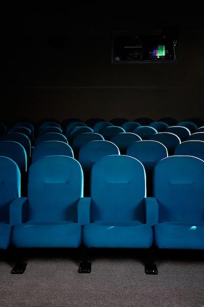 Cinema seats in a movie theater Premium Photo