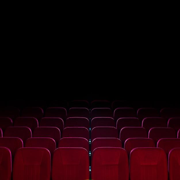 Cinema seats still life Free Photo