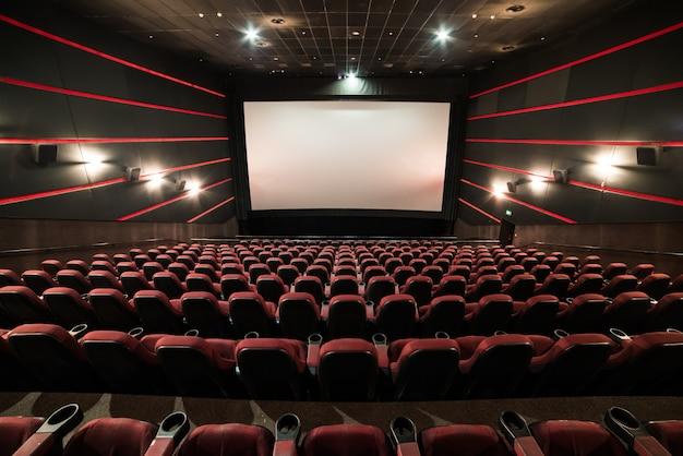 Cinema theatre before presentation Premium Photo