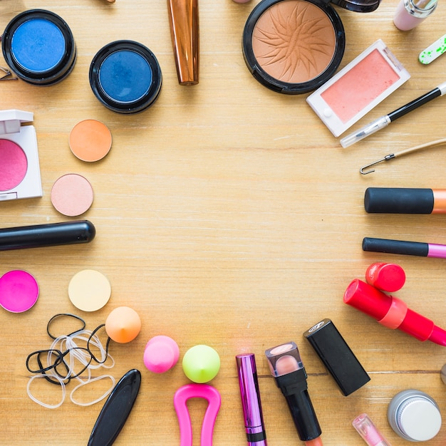 Free Photo Circle From Makeup Supplies