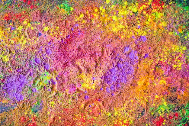 Circle prints on bright powder Free Photo