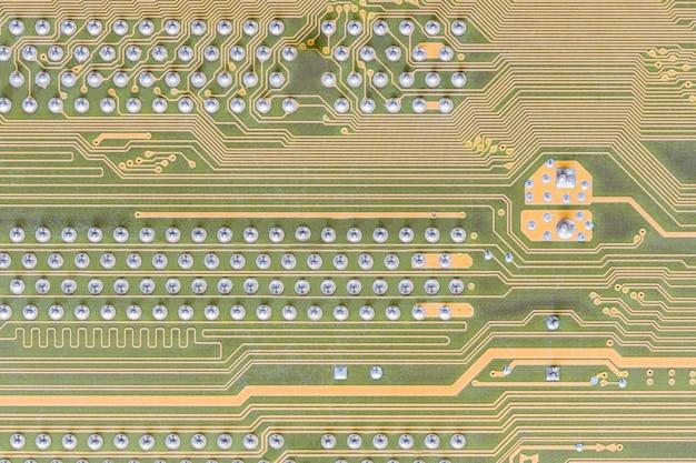 Circuit board integrated on computer Premium Photo