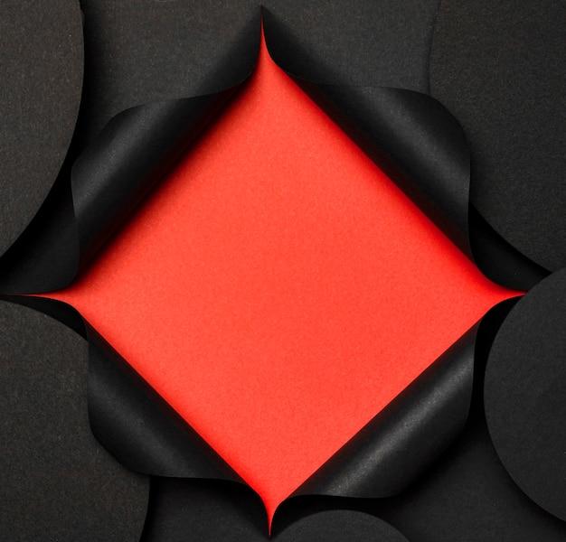 Круглая копия космический фон и красный вырез Бесплатные Фотографии