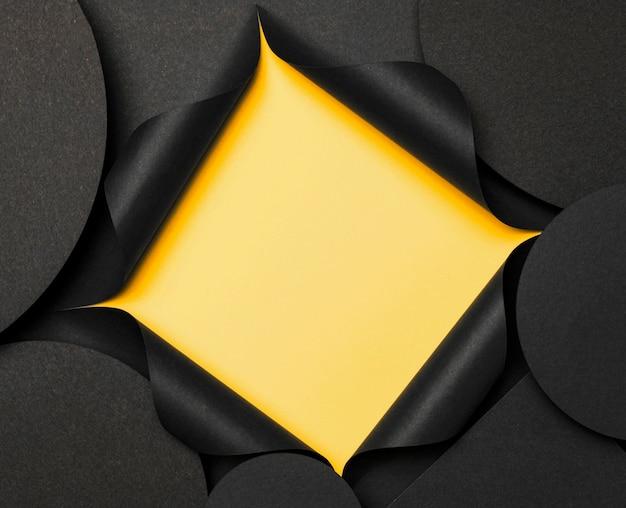 Круглая копия космический фон и желтый вырез Бесплатные Фотографии