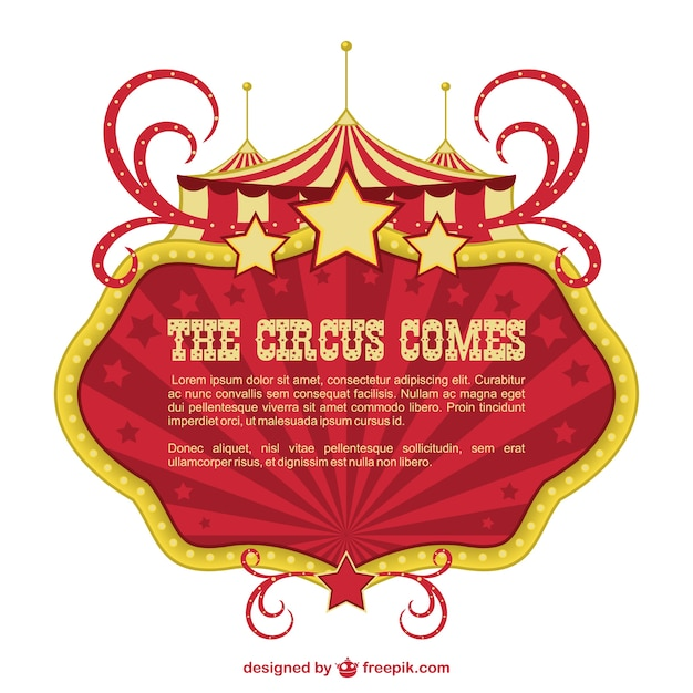 Circus banner showtime design - Showtime design ...
