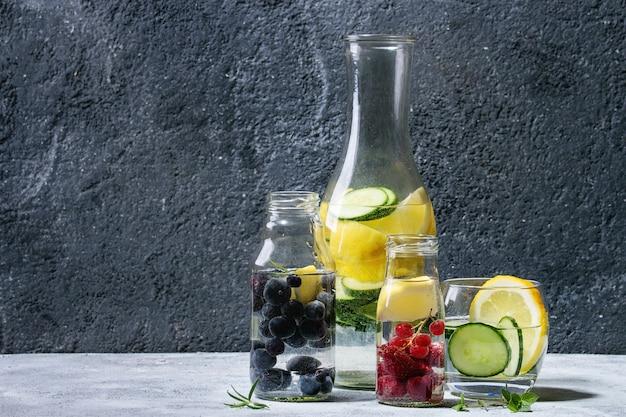 Citrus cucumber sassy water Premium Photo
