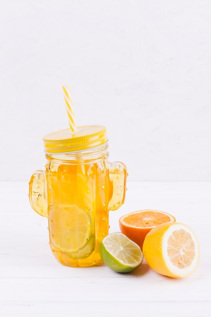 Citrus drink on table Free Photo