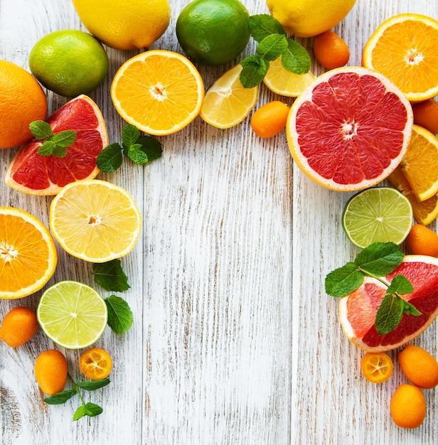 Citrus fresh fruits Premium Photo