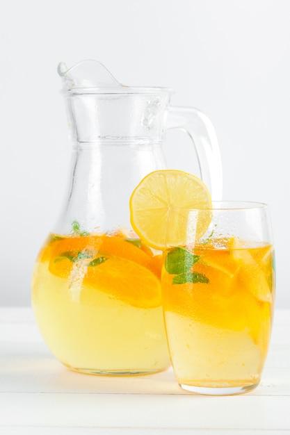 Citrus lemonade, summer drink. Premium Photo
