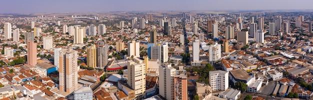 City of aracatuba, so paulo, brazil - aerial view Premium Photo