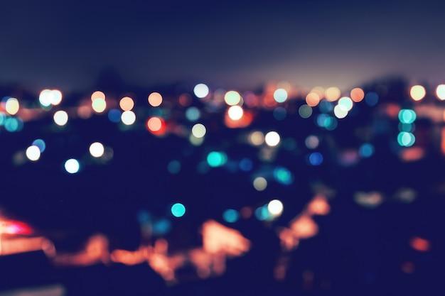 City light bokeh background Premium Photo