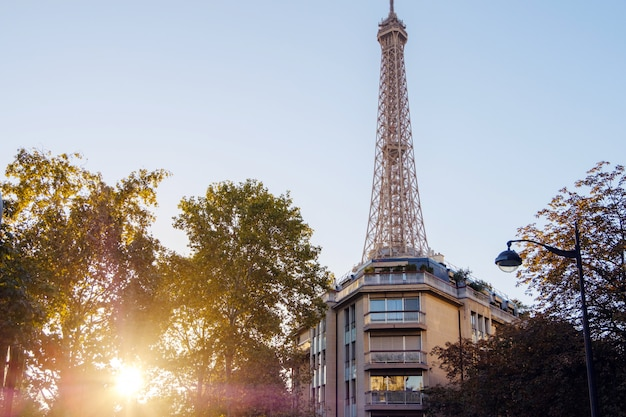 City of paris with eiffel tower Premium Photo