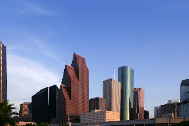 City skyscraper downtown buildings urban view Premium Photo
