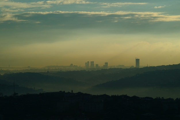 City with pollution Free Photo