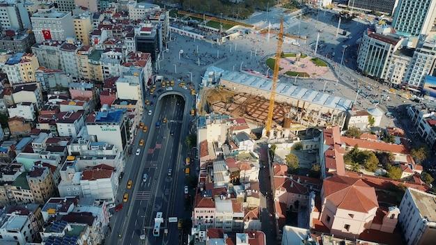 Городской пейзаж стамбул, турция. фото с высоты птичьего полета Бесплатные Фотографии