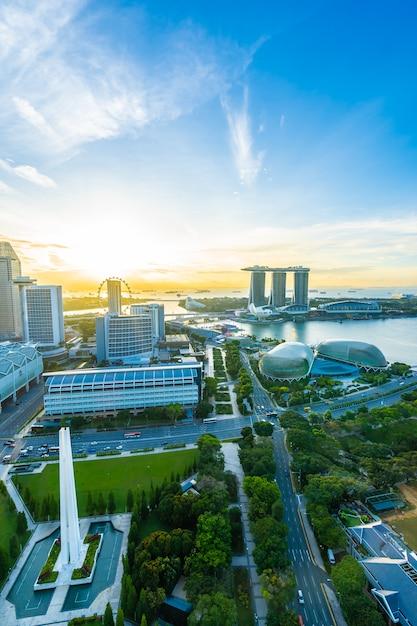 Cityscape in singapore city skyline Free Photo