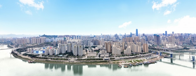 Cityscape and skyline of chongqing in cloud sky Free Photo