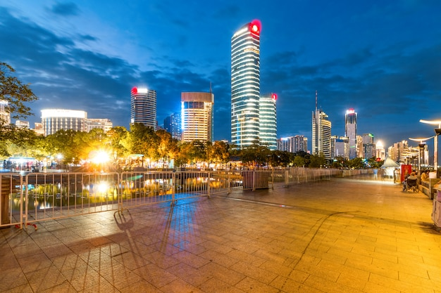 Cityscapec of nanchang city at night, japan Premium Photo