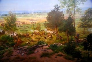 Civil war painting Free Photo