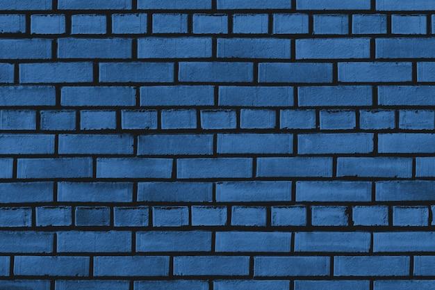 Classic blue brick wall texture Premium Photo