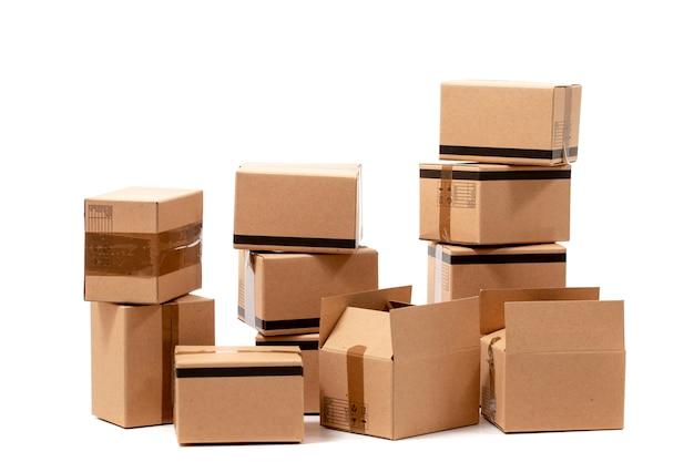 Classic cardboard boxes Premium Photo