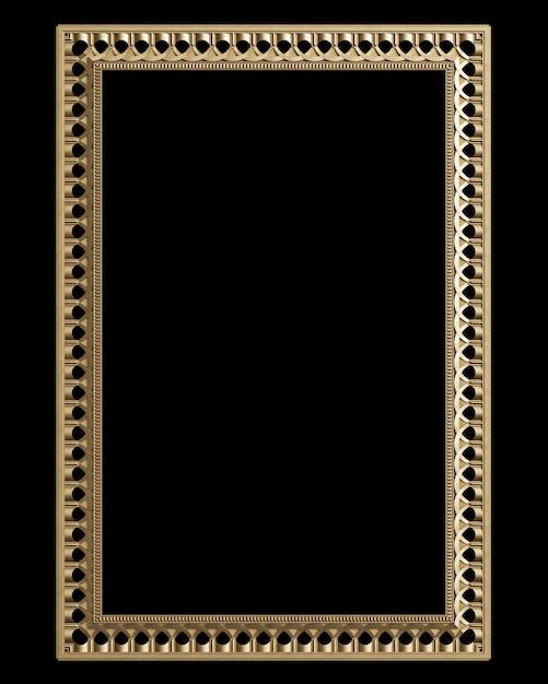 Classic decor  frame with ornament decor Premium Photo