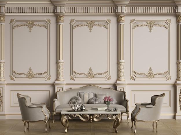 Classic furniture in classic interior with copy space Premium Photo
